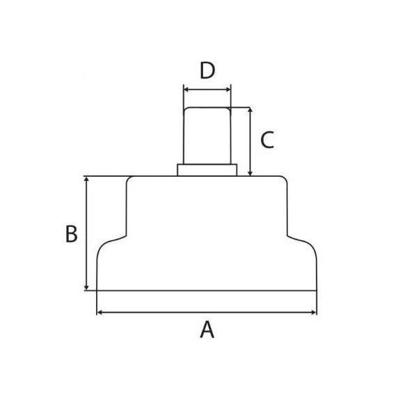 Tappancsok forgószékhez 5 db-os szettben, 11 mm-es csappal