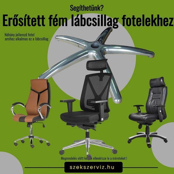 Erősített alumínium lábcsillag 150 kg-os teherbírással, 11-es csaphellyel