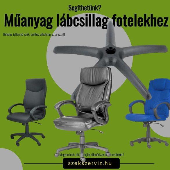 Műanyag fotel lábcsillag 110 kg-os teherbírással, 11-es csaphellyel