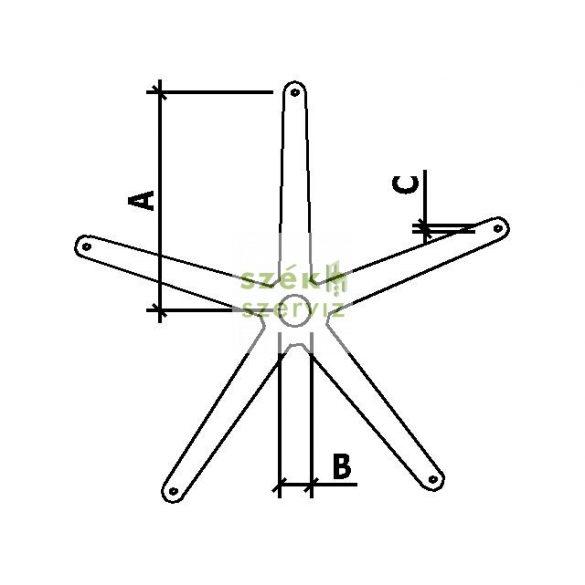 Lábcsillag, csillagláb méretek ellenőrzése székjavítás előtt